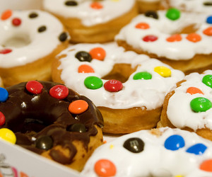 donuts and m&m's image