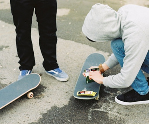 boy, guy, and skateboard image