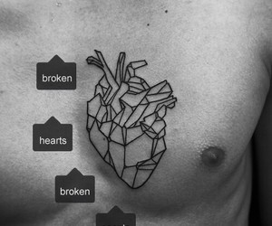 b&w, grunge, and hearts image