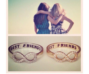 rings, best friends, and bff image