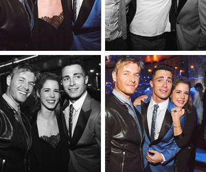 the flash, colton haynes, and emily bett image