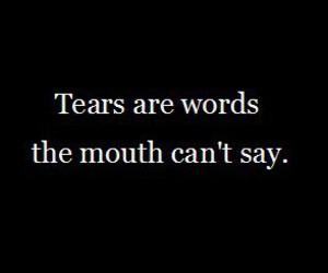 tears, words, and sad image