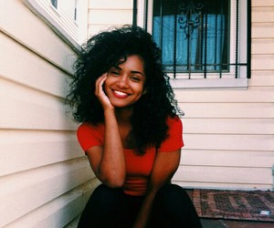 smile, style, and curls image