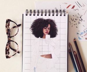 Afro, drawing, and leirebeart image
