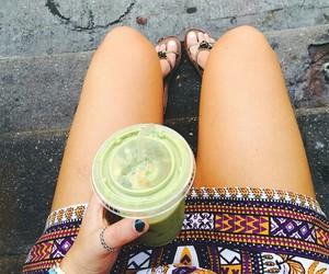 drink, girl, and food image
