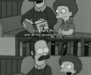 funny, harry potter, and simpsons image