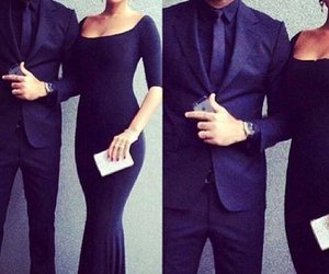 couple, black, and dress image