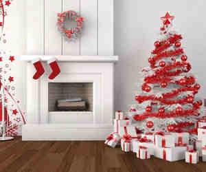 christmas, home, and red image
