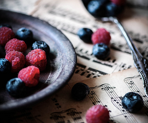 fruit, music, and berries image
