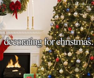 christmas, decorating, and christmas tree image