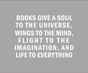 book, quote, and imagination image