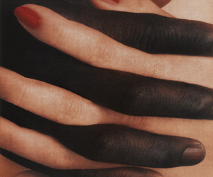 black, couple, and hands image
