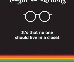 harry potter, lgbt, and closet image