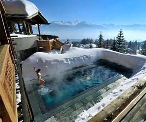 pool, ski, and snow image