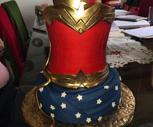 cake, wonder woman, and chocolate image