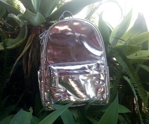 grunge, plants, and backpack image