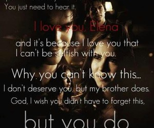 love, delena, and damon image