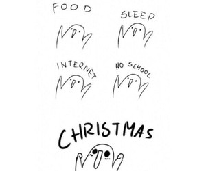 christmas, food, and sleep image