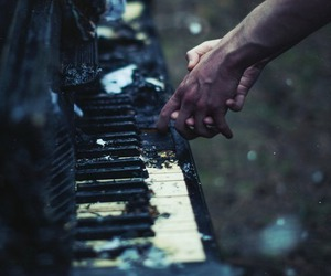 piano, music, and grunge image