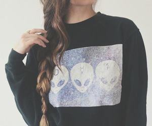 girl, alien, and hair image