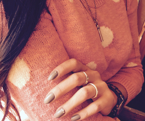 gray, nails, and studded image