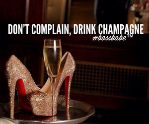 champagne, high heels, and heels image