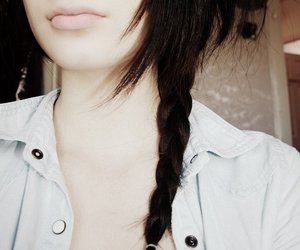 brown hair, nice, and plait image