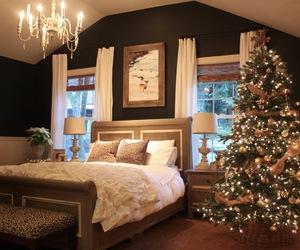christmas, bedroom, and home image