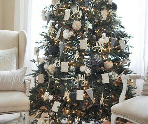 tree, christmas, and white image