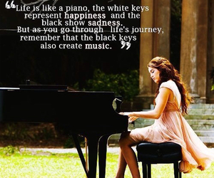 quotes, piano, and life image