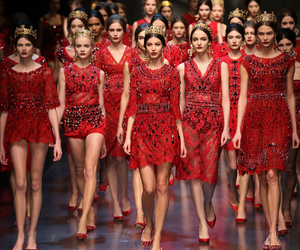 red, fashion, and models image