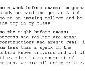 exams, finals, and funny image