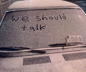 snow, car, and talk image