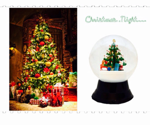 snow globe, cute, and tree image