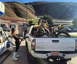 car, girl, and moto image