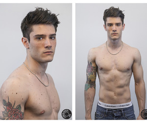 boy, model, and tattoo image