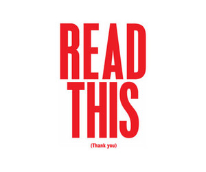 thank you, read, and red image