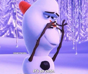 baby, olaf, and snowmen image