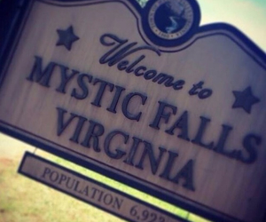 the vampire diaries, mystic falls, and tvd image