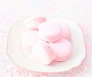 macaroons, pink, and cute image