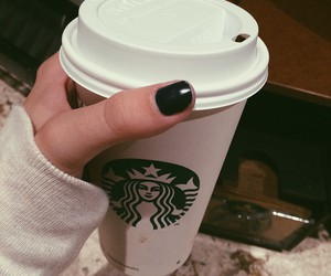 starbucks, coffee, and black image