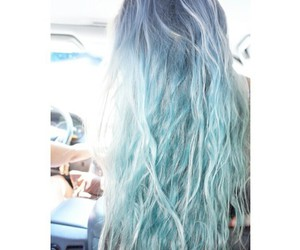 blue hair, ombre, and pastel goth image
