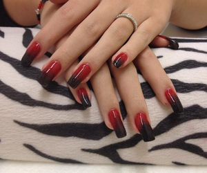 black, red, and wow image