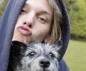 Jamie Campbell Bower, dog, and jamie image