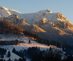 mountains, romania, and snow image