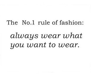 fashion, quote, and rules image