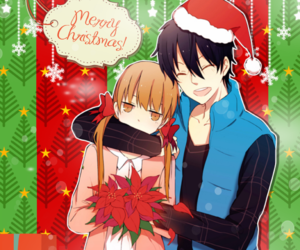 christmas, manga, and tonari no kaibutsu-kun image