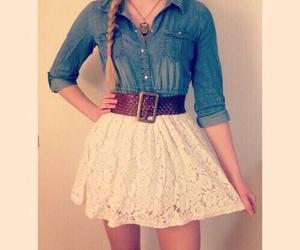 skirt, belt, and fashion image