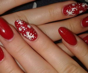 nails, christmas, and girly image