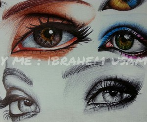 ballpoint, eyes, and drawing image